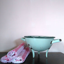 Load image into Gallery viewer, French Vintage Enamel Colander