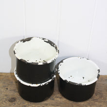 Load image into Gallery viewer, Black & White Enamel Bowls - Deep