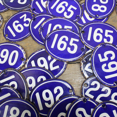 Blue Enamel Numbers