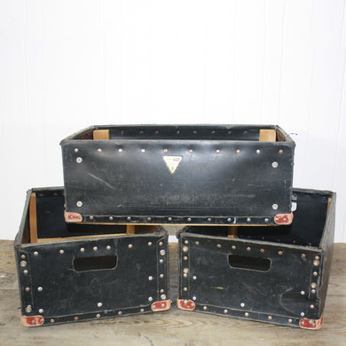 Factory Storage Boxes with Cutout Handles