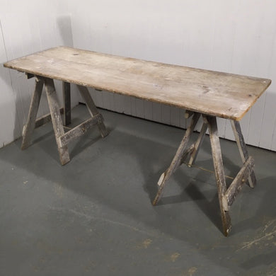 Double Potters Board Trestle Table