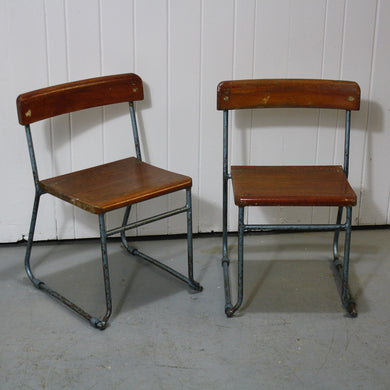 Pair of French School Chairs