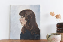 Load image into Gallery viewer, Vintage Original 20th Century Oil on Board Portrait Painting of a Female by P. Liverick