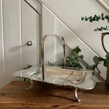 Load image into Gallery viewer, Vintage Silver-Plated Basket