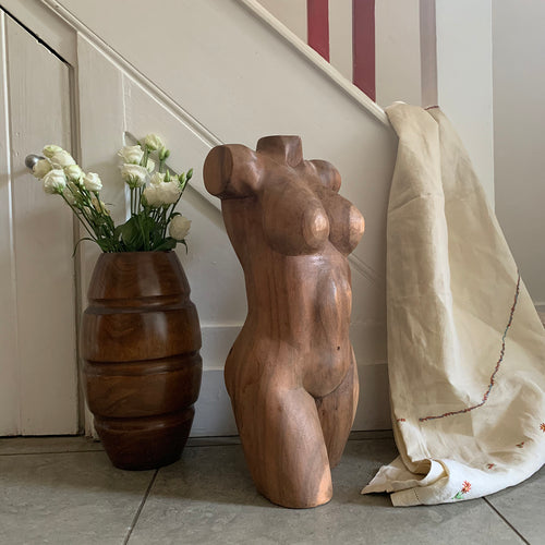 Sculptural Wooden Bust