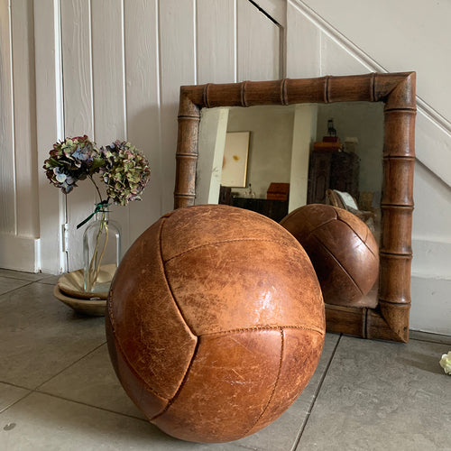 Large Vintage Leather Medicine Ball
