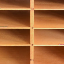 Load image into Gallery viewer, Vintage Wooden Danish Pigeon Hole Shelves / Stationery Cabinet by Vamo Sonderborg