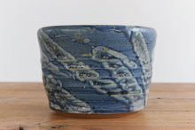 Load image into Gallery viewer, Vintage Small Blue Studio Pottery Stoneware Plant Pot