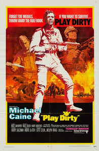 Play Dirty 1969 original vintage US 1 sheet film movie poster - Michael Caine