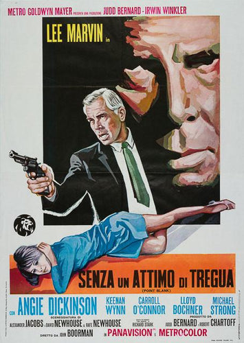 Point Blank 1967 original vintage Italian 2 sheet film movie poster