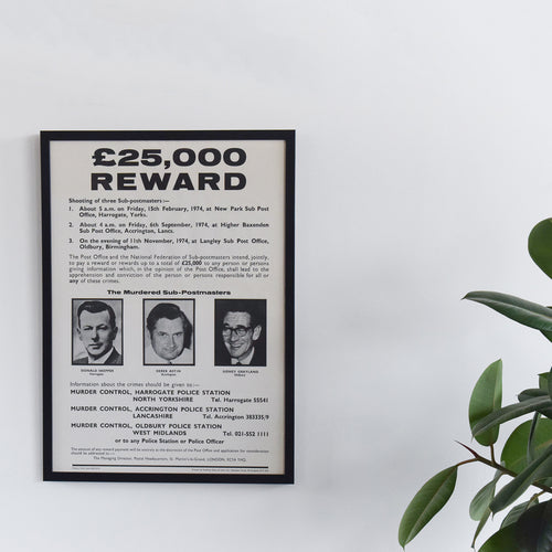 Vintage Unframed 'Black Panther' Post Office Shootings Wanted Poster