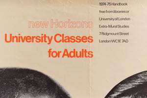Vintage Richard Eckersley New Horizons University Classes Poster