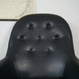 Black Danish Swivel Chair
