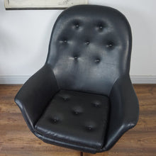 Load image into Gallery viewer, Black Danish Swivel Chair
