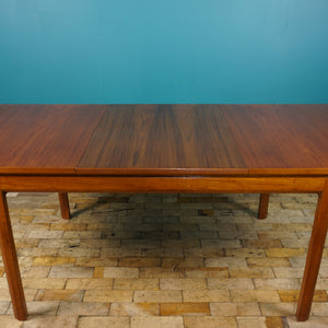 EXTENDING TEAK DINING TABLE BY WHITE & NEWTON