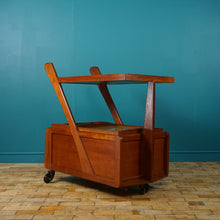 Load image into Gallery viewer, MID CENTURY DANISH BAR CART / TEA TROLLEY