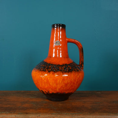 ORANGE HANDLED WEST GERMAN VASE CARSTENS 1007 / 27