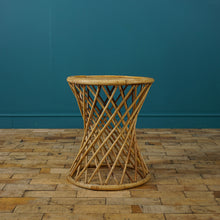 Load image into Gallery viewer, ROUND BAMBOO SIDE TABLE