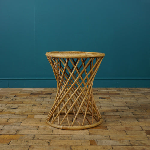 ROUND BAMBOO SIDE TABLE