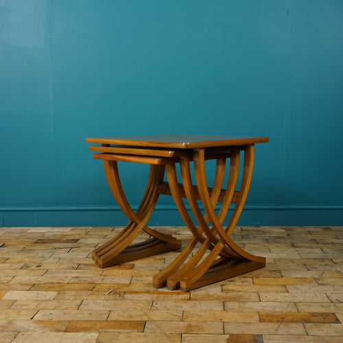 TEAK NEST OF 3 SIDE TABLES BY NATHAN c1970