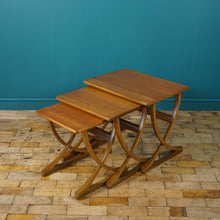 Load image into Gallery viewer, TEAK NEST OF 3 SIDE TABLES BY NATHAN c1970