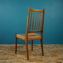 Load image into Gallery viewer, Set of 6 Danish Teak & Paper Cord Dining Chairs