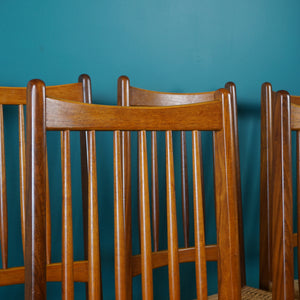 Set of 6 Danish Teak & Paper Cord Dining Chairs