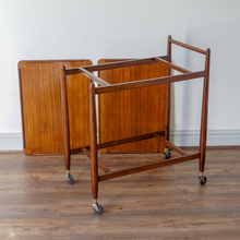 Load image into Gallery viewer, Teak White & Newton Drinks Trolley