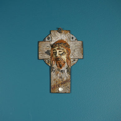 BRONZE OVERPAINTED CRUCIFIX BY JANCO