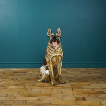 Load image into Gallery viewer, LARGE ITALIAN GERMAN SHEPHERD DOG CERAMIC SCULPTURE