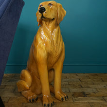 Load image into Gallery viewer, LARGE ITALIAN GOLDEN RETRIEVER DOG CERAMIC SCULPTURE PRICE