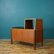 Load image into Gallery viewer, MID CENTURY TEAK TELEPHONE TABLE WITH STORAGE