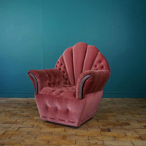 SMALL VINTAGE PINK BEDROOM ARMCHAIR