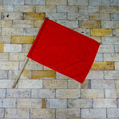 Vintage Railway Lookout Red Flag