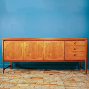 Mid Century Teak Circles Sideboard by Nathan c1960