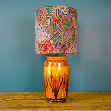 Load image into Gallery viewer, Rare Art Deco Chameleon Ware Hand-painted Glazed Ceramic Lamp by Clews & Co Ltd