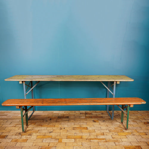 Vintage German Bierkeller Table and Bench