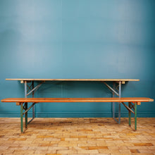Load image into Gallery viewer, Vintage German Bierkeller Table and Bench