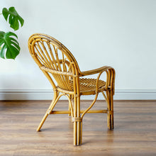 Load image into Gallery viewer, Small Vintage Bamboo Chair
