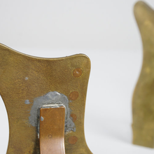 Load image into Gallery viewer, A Pair Of Welsh Folk Art Brass & Copper Boots