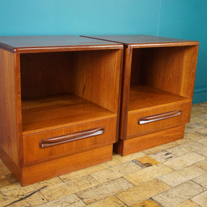 Matching Pair of G Plan Fresco Bedside Tables