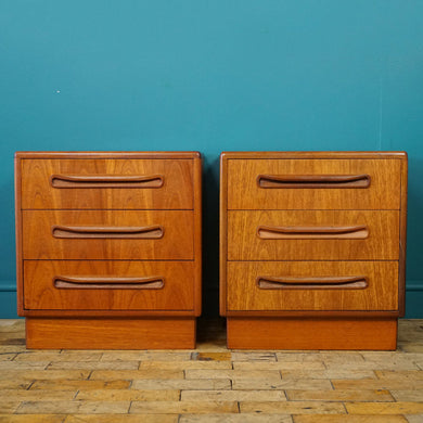 Pair of G Plan 3 Drawer Beside Tables