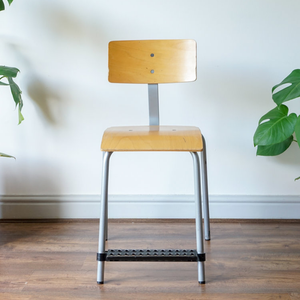 Mid Century Adjustable Plywood School Chairs