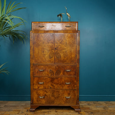 Art Deco Walnut Tallboy