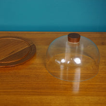 Load image into Gallery viewer, Danish Bostrom Teak Cheese Board with Lid