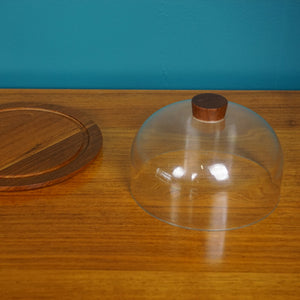 Danish Bostrom Teak Cheese Board with Lid