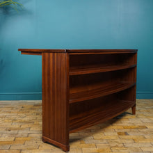 Load image into Gallery viewer, Mid Century Desk with Drawers and Bookshelf