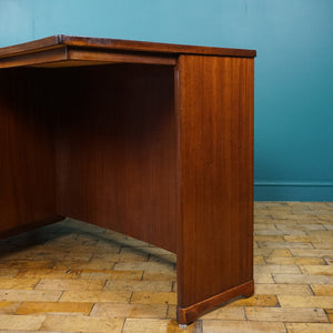 Mid Century Desk with Drawers and Bookshelf