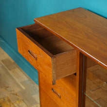 Load image into Gallery viewer, Mid Century Turnidge of London Teak Glazed Bookcase with Drawers