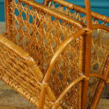 Load image into Gallery viewer, Mid Century Wicker Magazine Rack